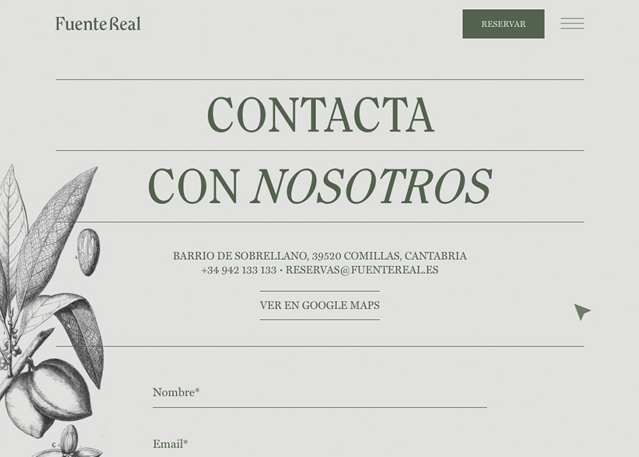 Fuente Real - Contact page