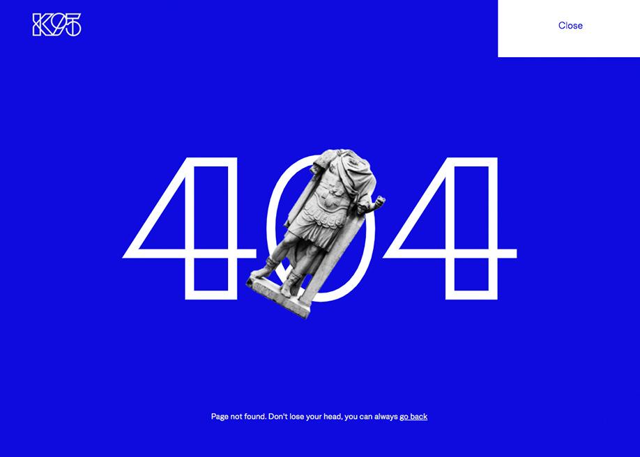 Studio K95 - 404 error page