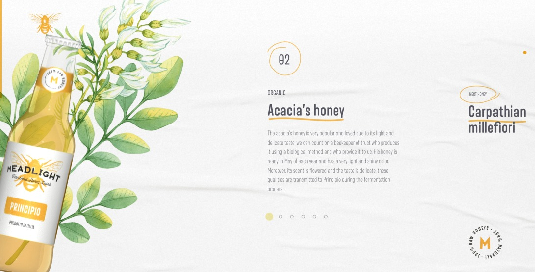 Meadlight presents: Principio is a fermented honey drink.