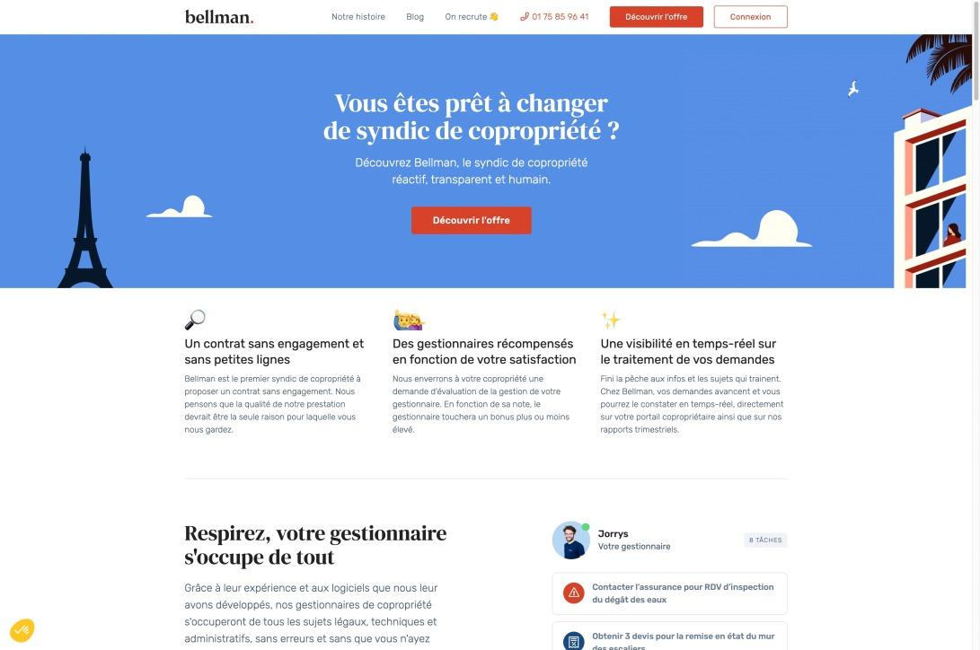 Bellman | Syndic de Copropriété Réactif, Transparent, Humain