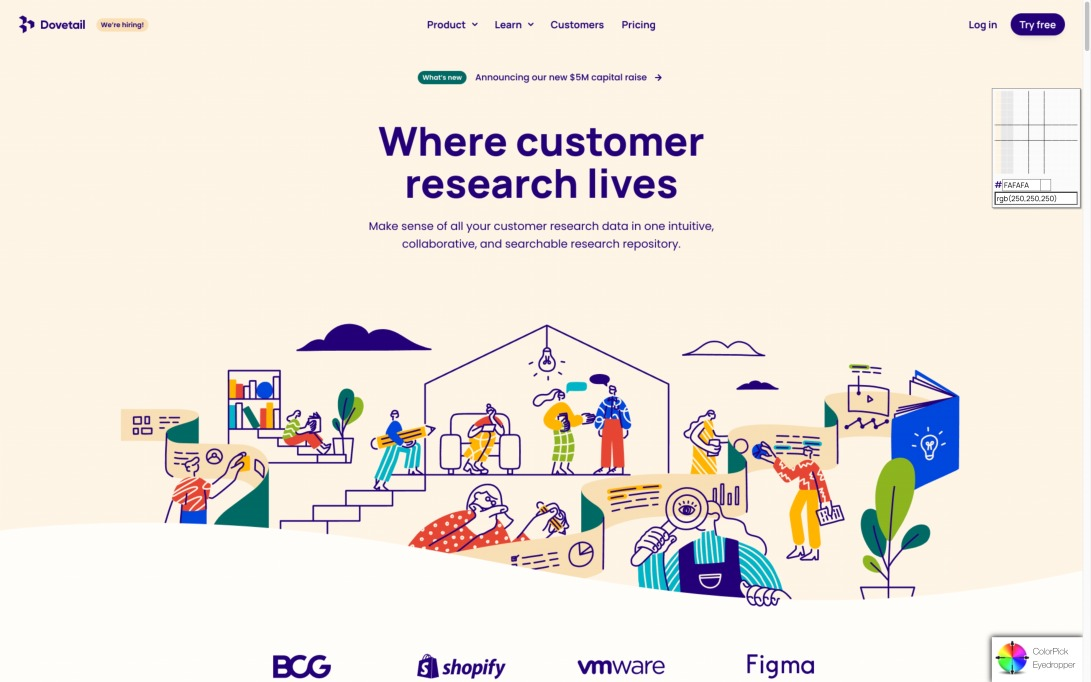 User research analysis and repository platform – Dovetail