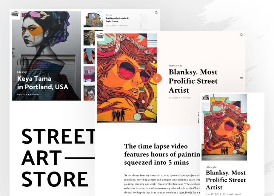 Street Art News Magazine layout