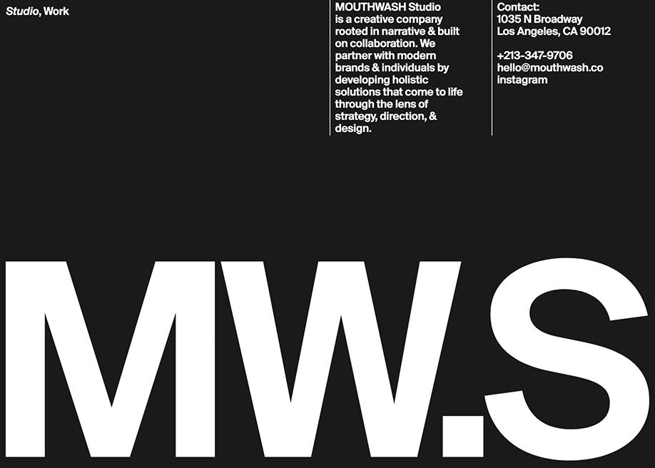 Modernist Inspired Layout - Mouthwash Studio