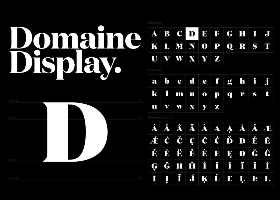 Domaine Display Font