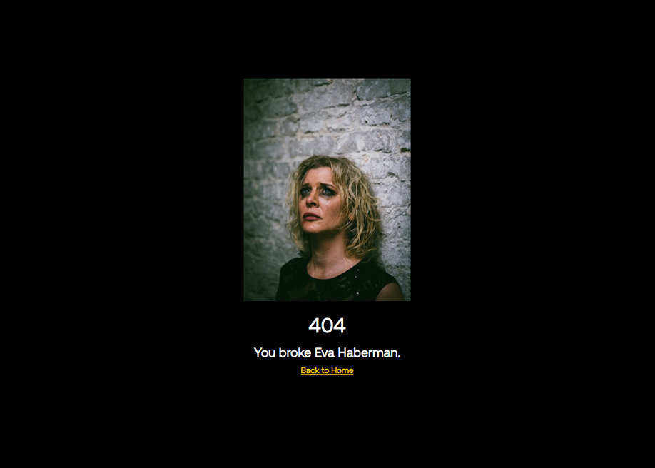 Eva Habermann - 404 error page