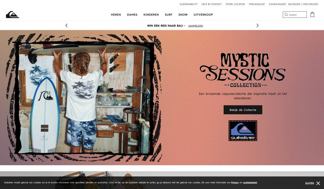 Quiksilver online Shop: Surf & Snowboard