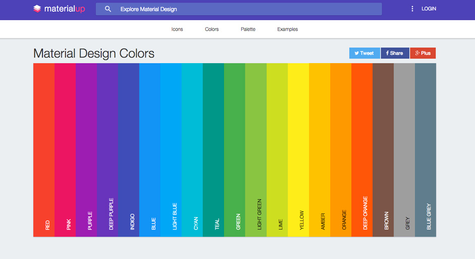 Trendy Web Color Palettes and Material Design Color Schemes & Tools