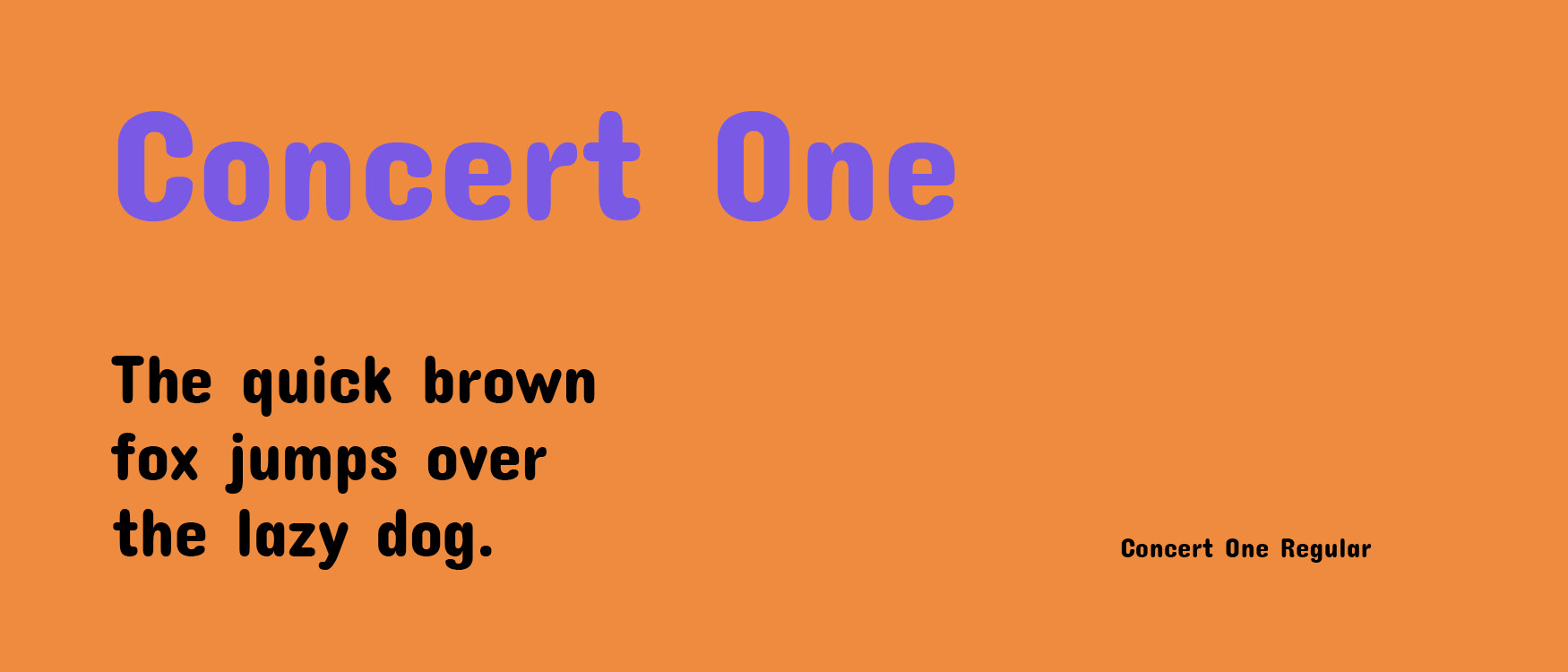 Concert One Google Fonts Web Fonts