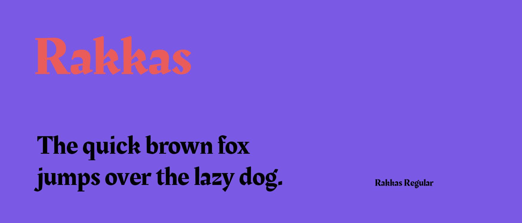 Rakkas Google Fonts Web Fonts