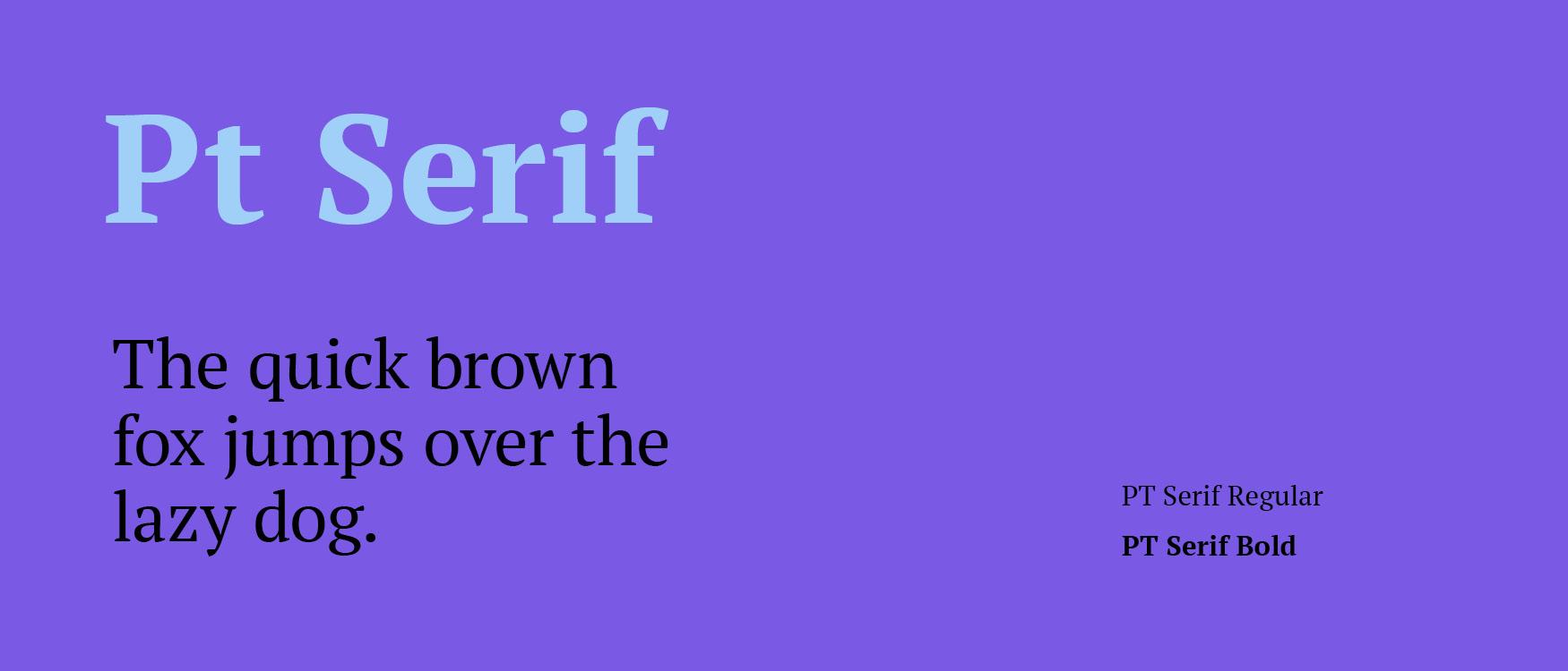 PT Serif Google Fonts Web Fonts