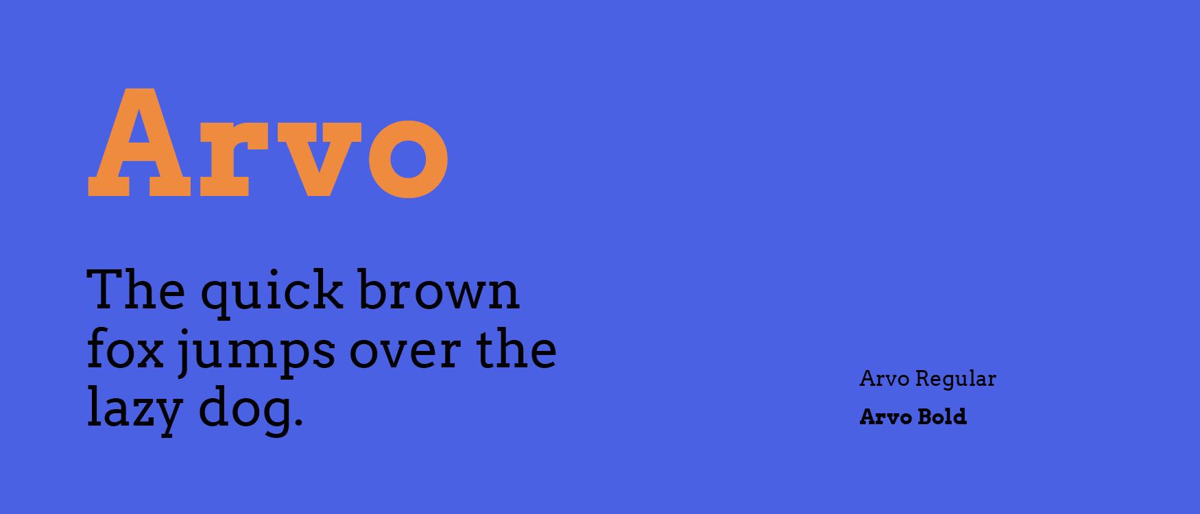 Arvo Google Fonts Web Fonts