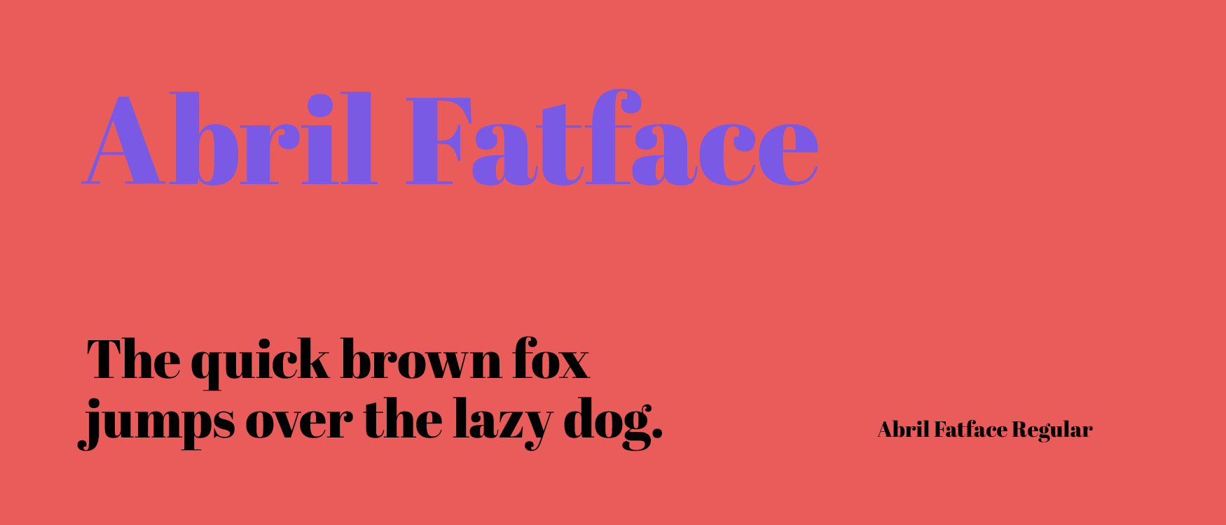 Abril Fatface Google Fonts Web Fonts