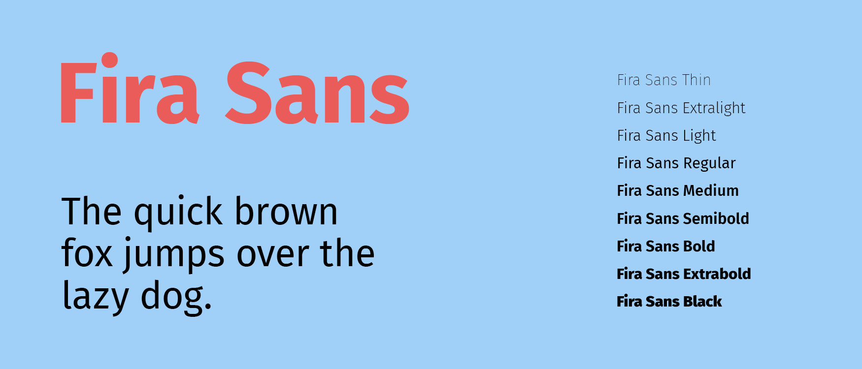 Fira Sans Google Fonts Mobile Fonts UI