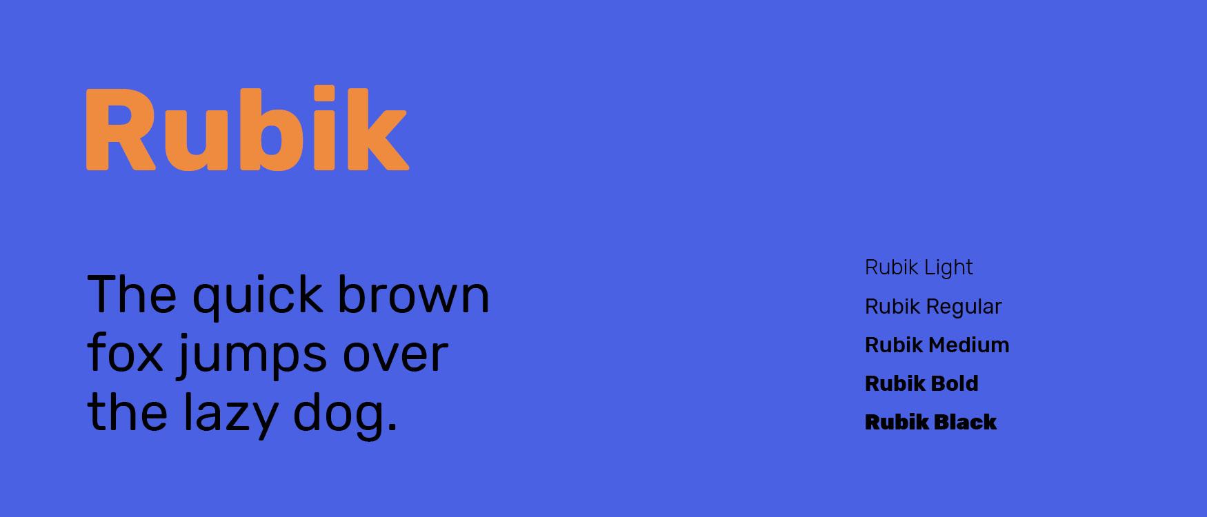 Rubik Google Fonts Web Fonts