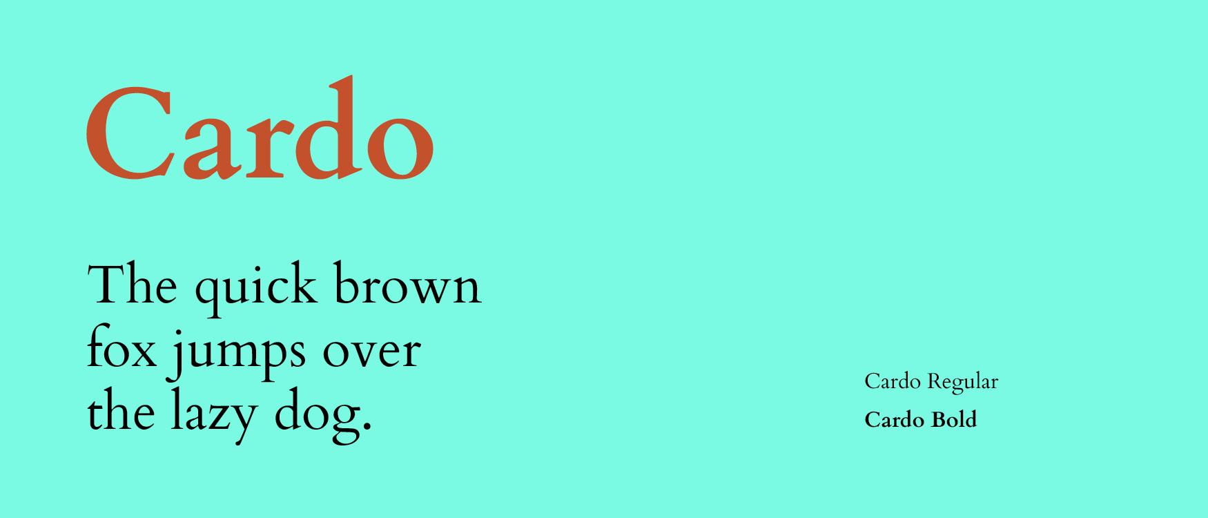 Cardo Google Fonts Web Fonts