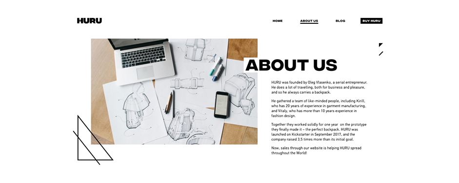 about us page