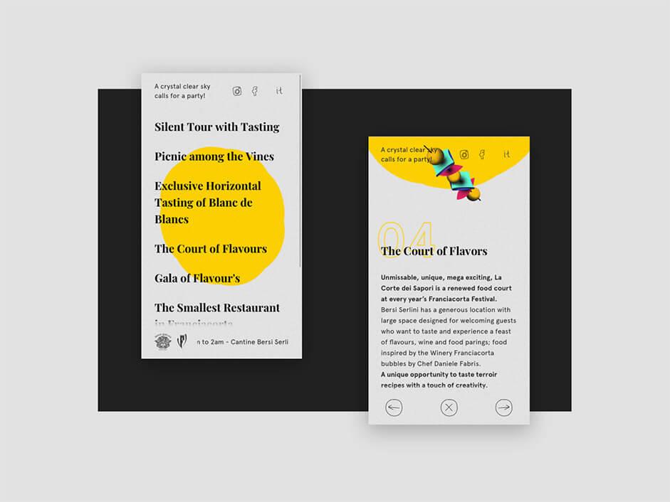 Mobile navigation of Festival Bersi Serlini