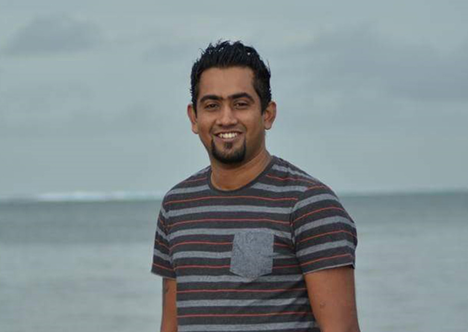 Photo of Atish, Creative Director of Creative Design Fiji.