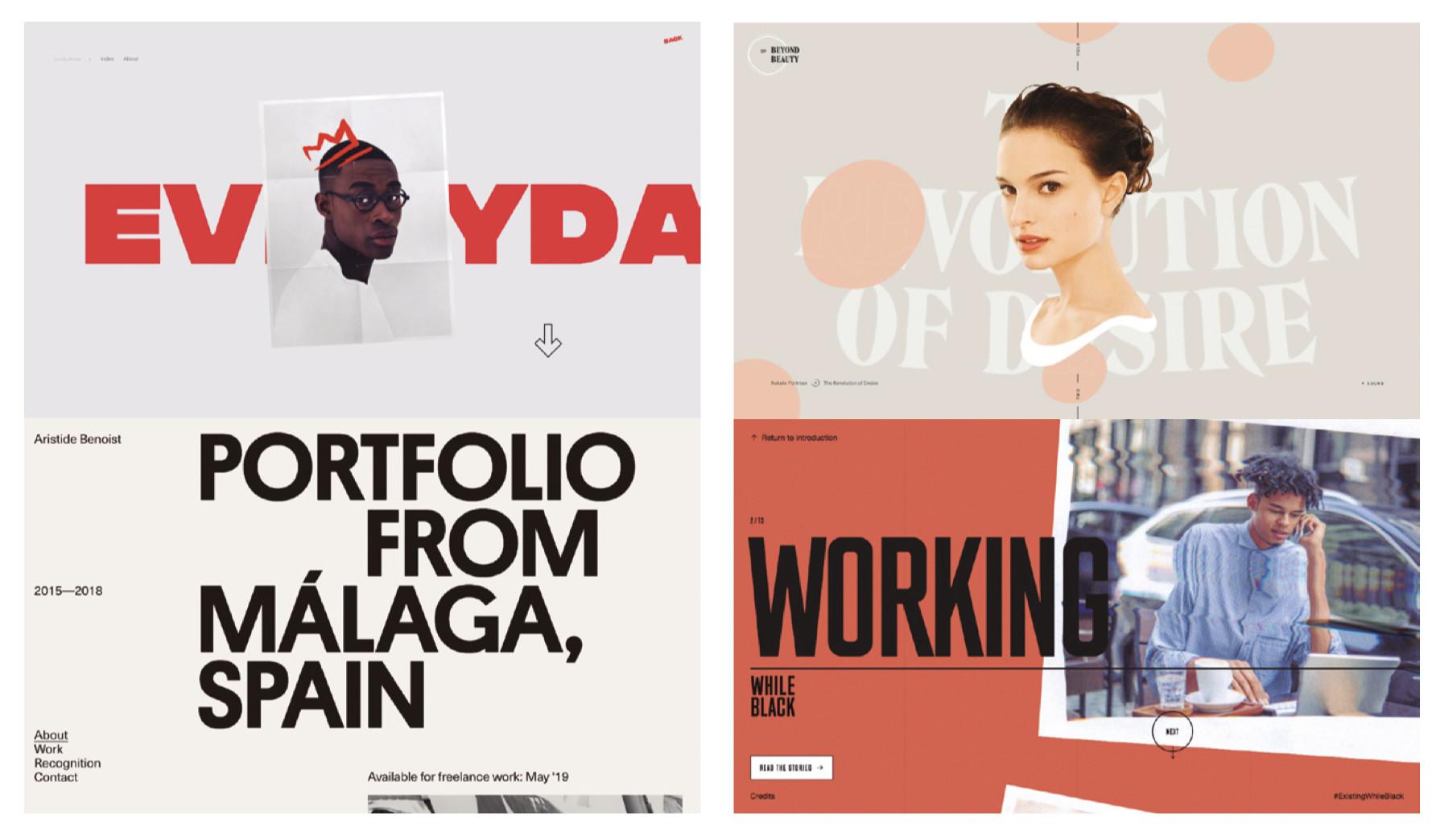 Typography in web design Trends