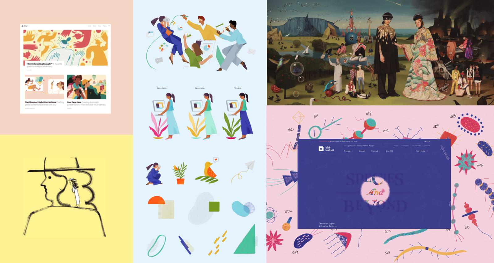 Illustration in web design Trends