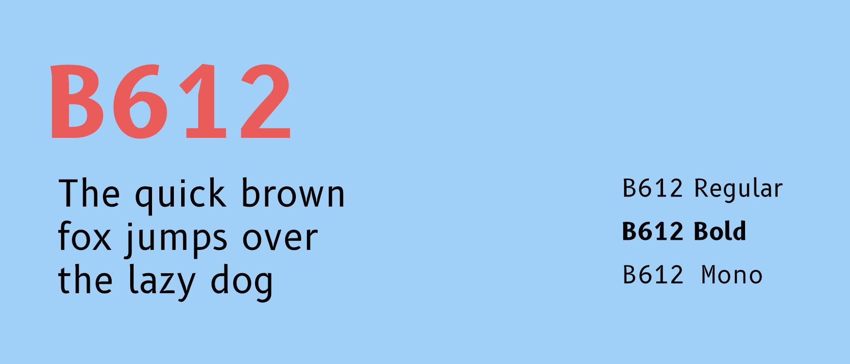 B612 Google Fonts Web Fonts
