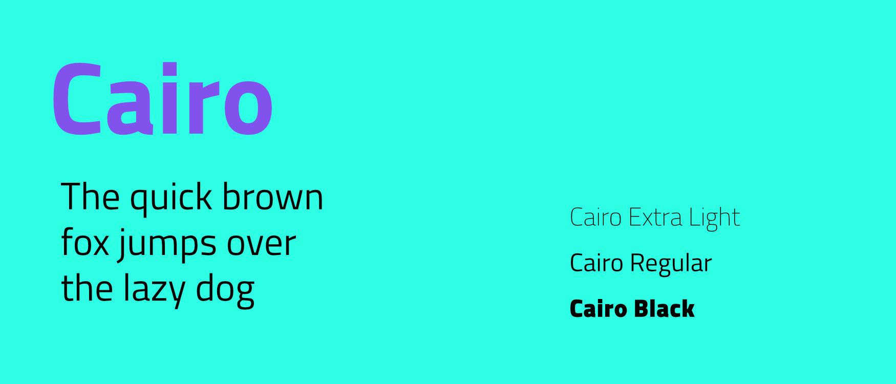 Cairo Google Fonts Web Fonts