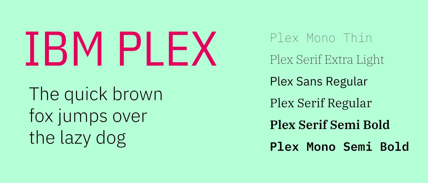 IBM Plex Google Fonts Web Fonts