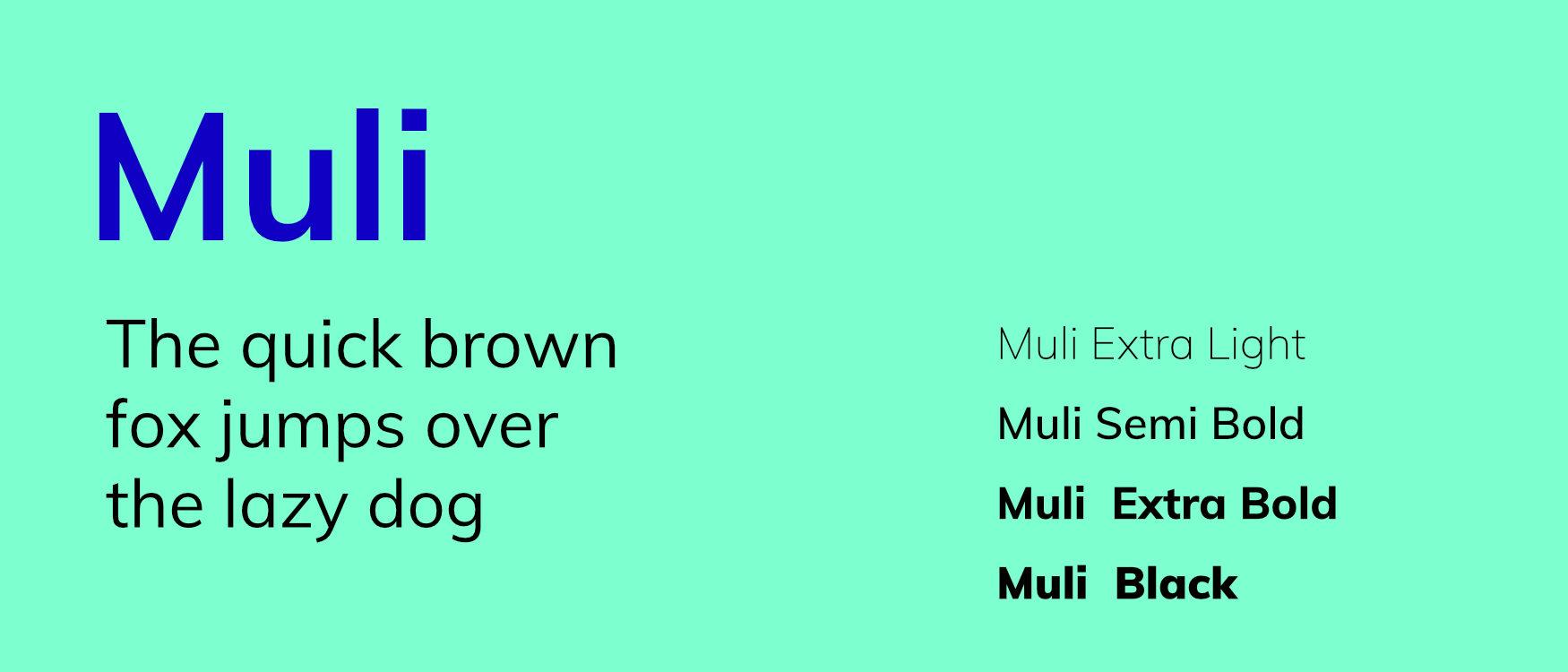 Muli Google Fonts Web Fonts