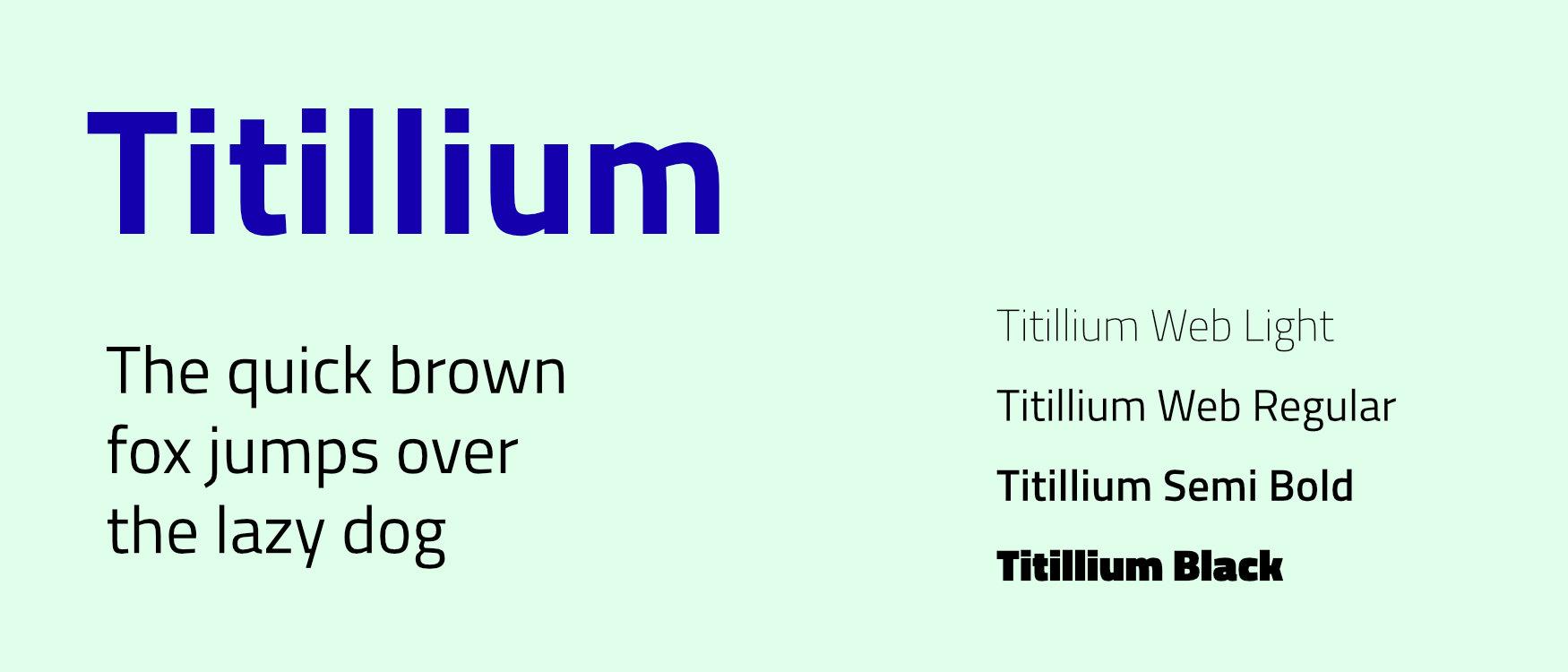 Titillium Web Google Fonts Web Fonts