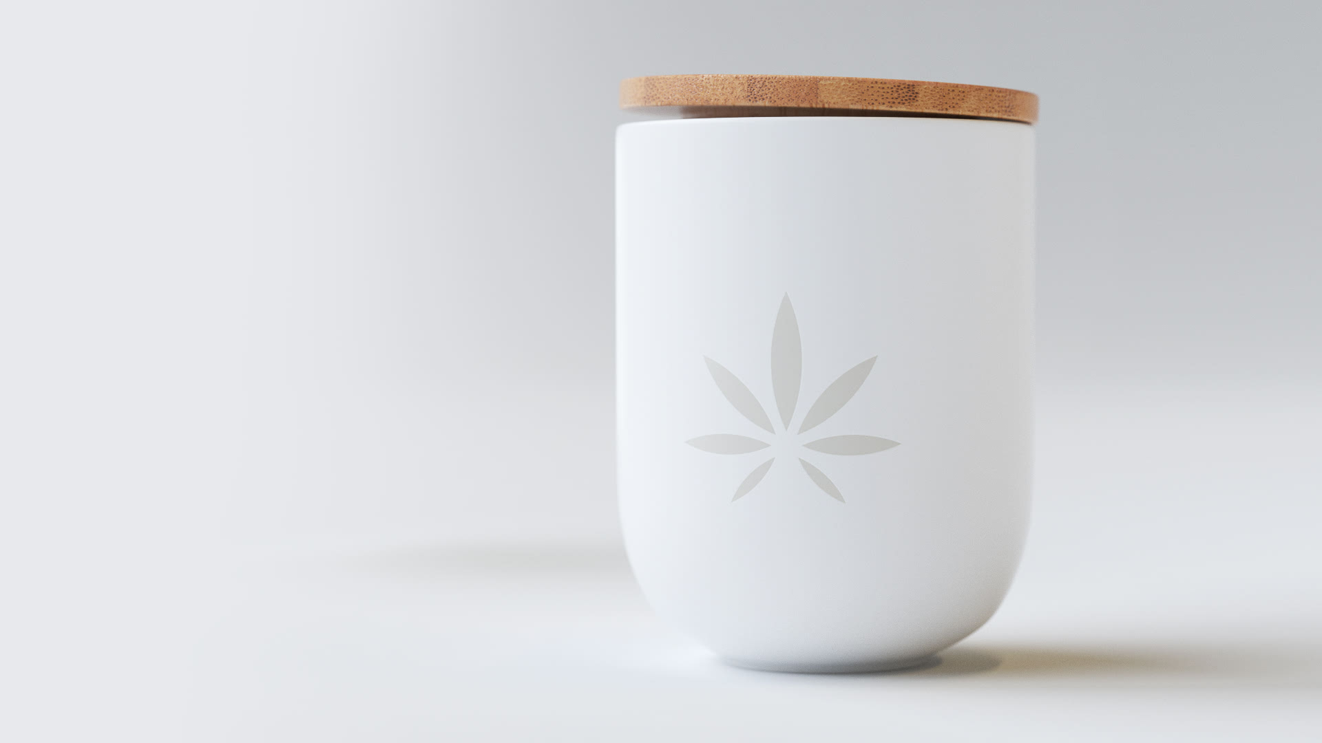Clay model of pot with cannabis leaf print