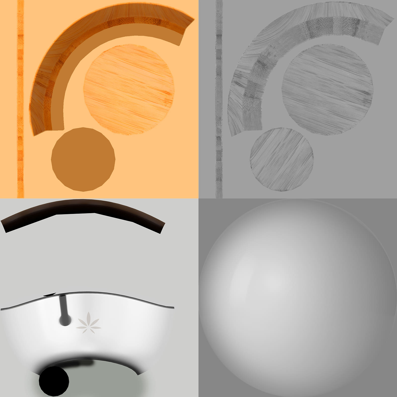 4 images of the different MA branded pots