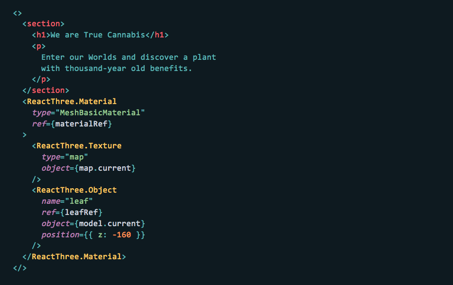 A snippet of the code