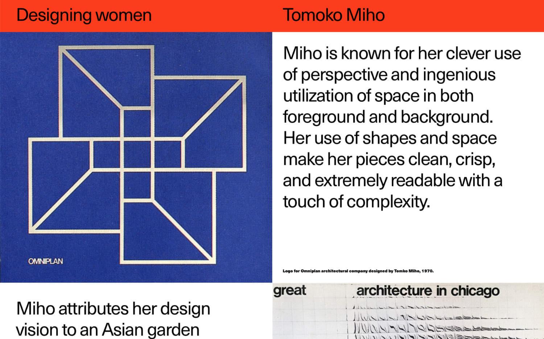 Profile of Tomoko Mho in Designing women