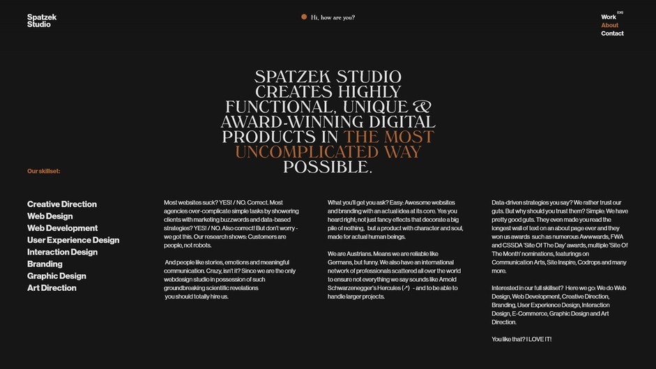 Spatzek studio - no read