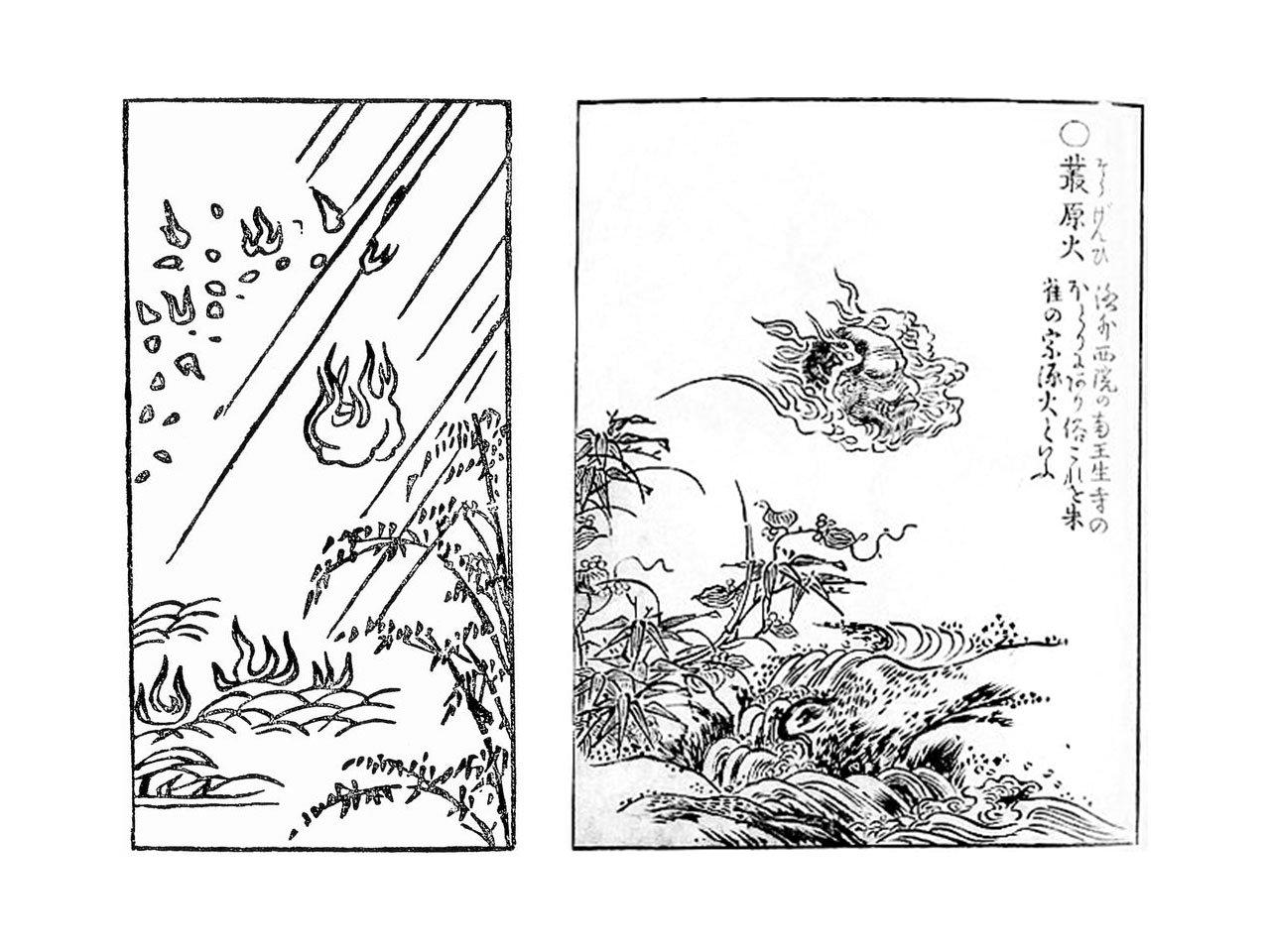 Onibi skull flame japanese creature