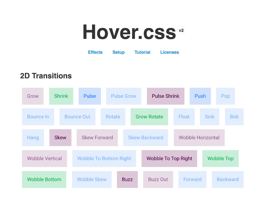 Hover.css - UI Libraries and Tools