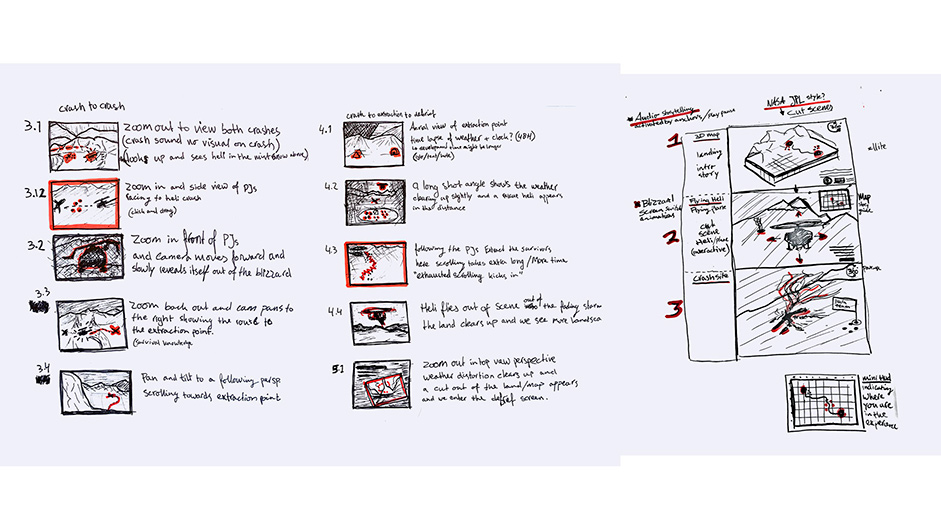 Image 1 - First storyboard sketches.