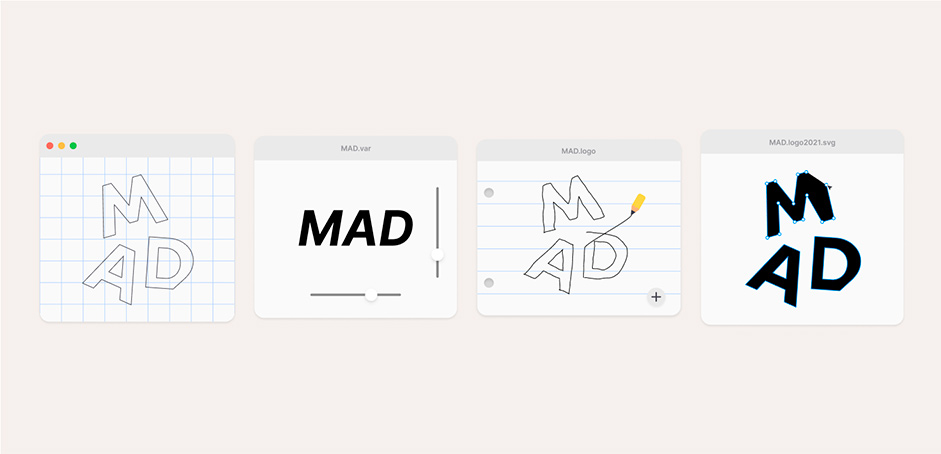 Some designs of MAD logo