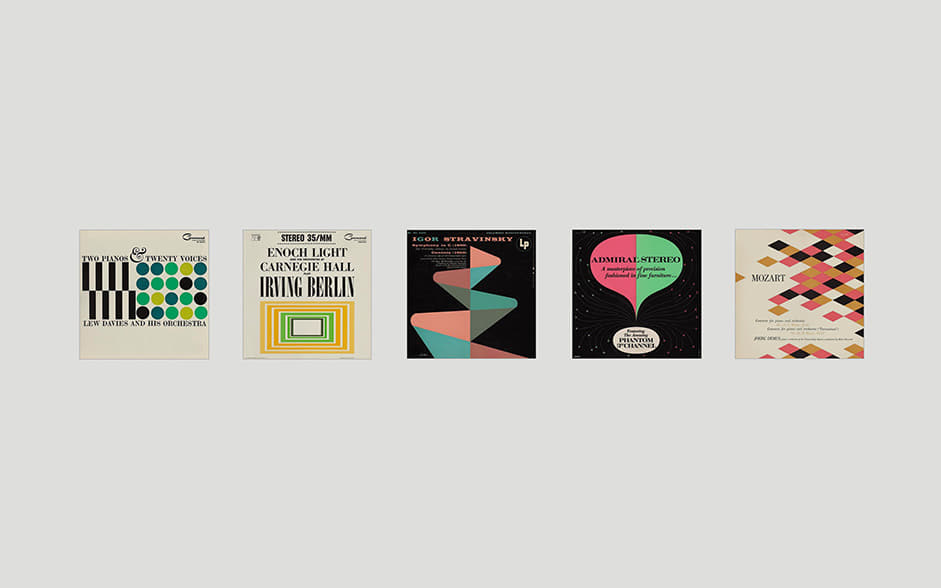 5 posters as examples of design inspiration