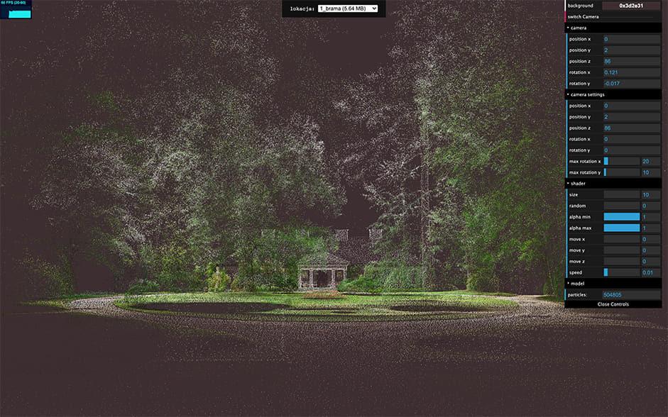 Garden scene in WebGL