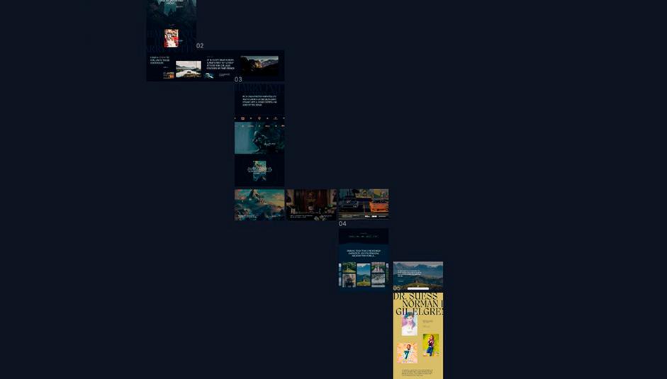 Website navigation map