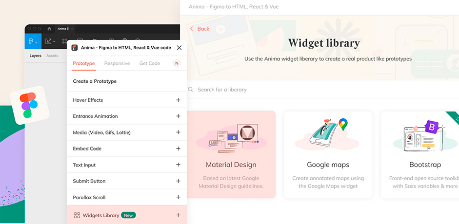 Anima app detail in Figma's plugin page