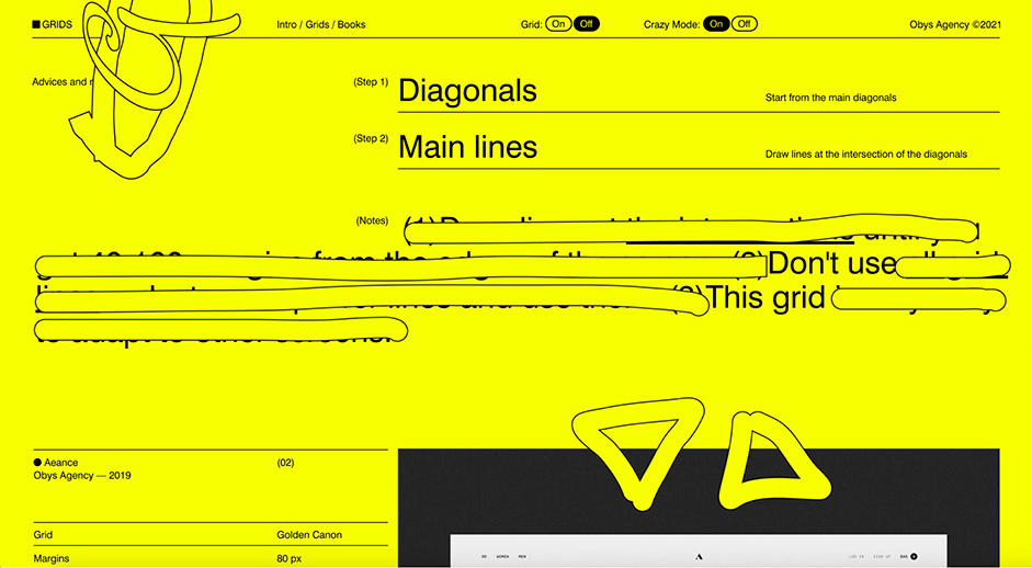Detail page for Grids by Obys