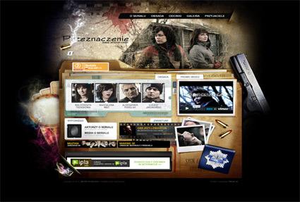 Przeznaczenie - mystery crime tv series - Awwwards SOTD
