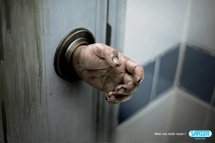 Sanzer hand gel: Doorknob