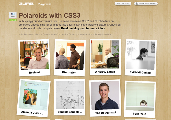 Polaroids with CSS3