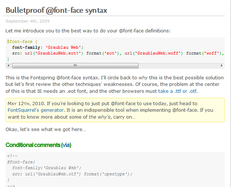 Bulletproof @font-face syntax