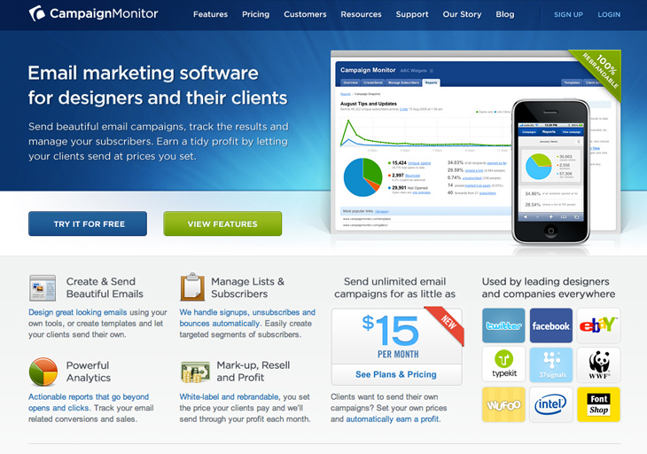 Best top 10 email marketing services for Interior design web app