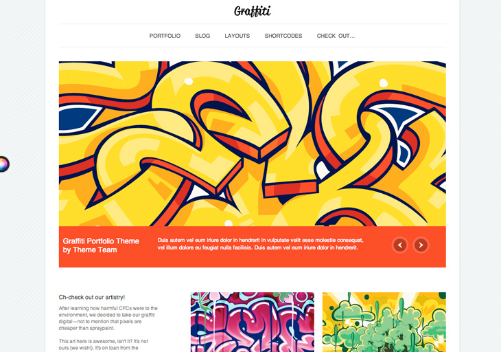 Graffiti Wordpress Theme