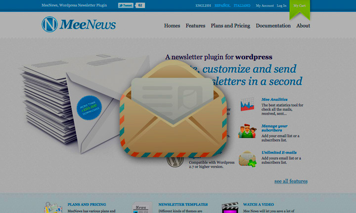 Mee News, A newsletter plugin for wordpress